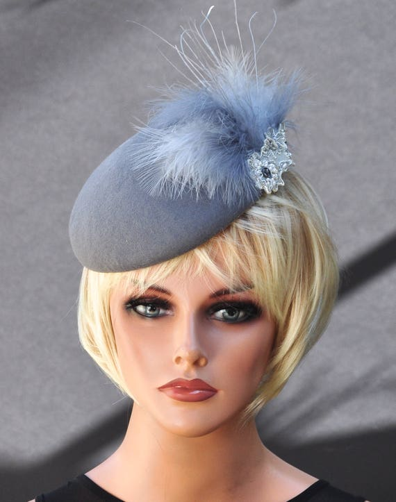Fascinator Hat, ladies formal hat, wedding hat, derby hat, feather headpiece, dressy hat, elegant hat occasion event hat headpiece