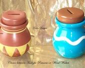 Legend of Zelda Ceramic Item Pot Bank - Choice Between Twilight Princess or Wind Waker - Hand Painted Custom made by TorresDesigns