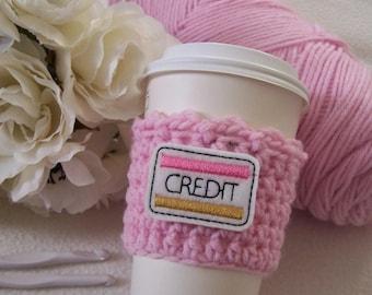 Crochet Coffee Cozy - Credit Card
