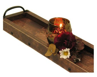 """CUSTOM 2"""" HEIGHT for Janette: Candle Holder, Wooden Candle Tray, Table Centerpiece, Mantle Centerpiece"""