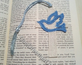 Book mark with Dove and a tassel
