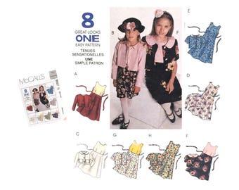 Girls Dress Pattern, Girls Jacket Pattern, Girls Size 7, Girls Size 8, Girls Size 10, Sewing Pattern, McCall's 8567,  DIY Girls Fashion