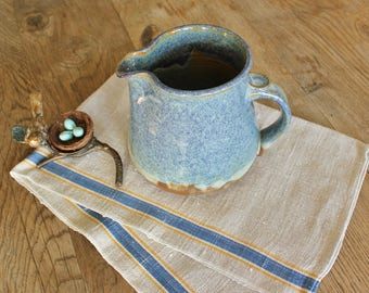 Vintage Hand Thrown Studio Pottery Pitcher