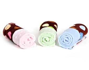 Minky Burp Cloths- Minky Burpies- Choose Boy or Girl or Neutral