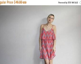 On SALE 35% Off - 80s Vintage Geometric Boho Tribal Babydoll Summer Tent Dress - 80s Clothing - WV0255
