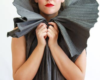 Pleated Avant Garde Wrap