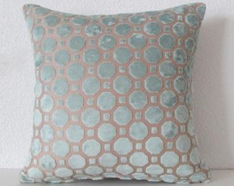 Fabric Swatch - Robert Allen Velvet Geo Mineral