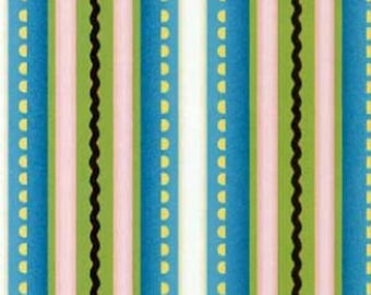 Cotton Quilt Fabric by the Yard, Sewing Room Social, Stripes by Henry Glass Fabric