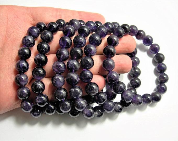 Amethyst  - 10mm round beads - 19 beads - 1 set - Ab dark quality - HSG99