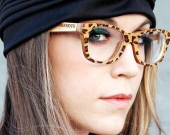 20% off SUMMER SALE world's firsrBrown Leopard Takemoto  Handmade Bamboo  Sunglasses Glasses