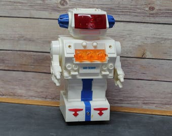 Vintage Radio Shack Programmable Space Robot, Electronic Robot with Original Box