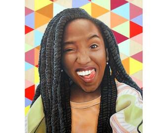Cheeky Beauties - Silly Goose - Pop Art - By Toronto Portrait Artist Malinda Prud'homme