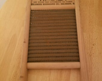 Vintage Wood and Metal Washboard