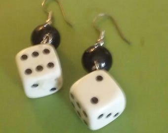 Vintage Throwing Dice Earrings