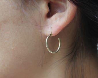ONLY ONE Re-cycled hoop earrings, little hoop earrings