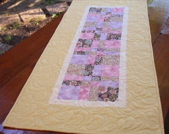 Quilted Table Runner, Patchwork Table Runner, Quilted Table Topper, Table Decor,  Coffee Table Decor, Free USA Shipping
