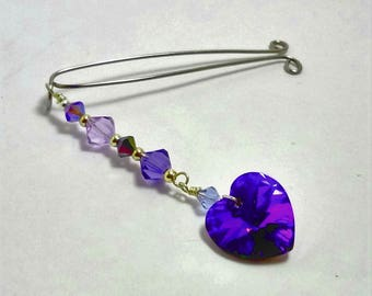 VCH Jewelry, Clit Clip, Vaginal Jewelry, Clitoral Jewelry, Sexy Jewelry, Clit Clamp, Non PIercing Jewelry Purple Heart