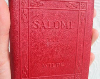 SALOME by Oscar Wilde - Miniature Book Little Leather Library 1920s Antique Vintage
