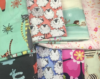Mystery Pack of Fabric Scraps - 2 pounds of fabric