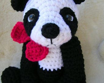 Summer Sale Crochet Pattern Cute Panda Bear by Teri Crews Wool and Whims Instant Download PDF Format