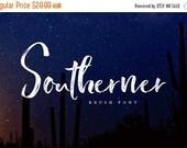 Digital Fonts 80% Off SALE Southerner Brush Script Font, Digital Font, Wedding Font, modern Calligraphy, Hand Writing, Logo