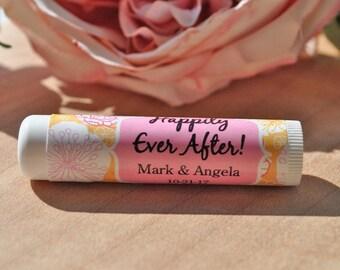 Lip Balm Wedding Favor Labels, Wedding Favors, Bridal Shower Favors, Bachelorette Party, Engagement Party Favors - Set of 24 Labels