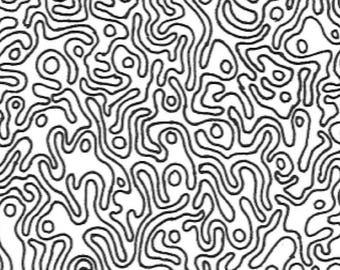 Mega abstract printable adult coloring page