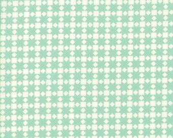 Handmade Star Quilt Aqua by Bonnie and Camille for Moda, 1/2 yard cotton fabric