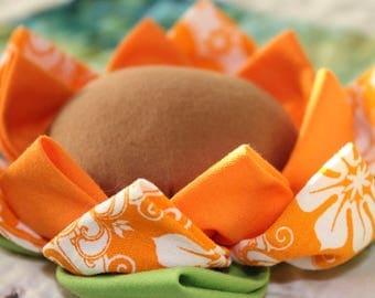 Orange Flower Pin Cushion