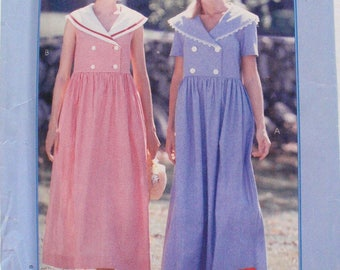 Easy Stitch 'n Sew Pullover High Waisted Dress - McCall's P333 - Sizes 16-18-20-22, Bust 38 - 44, Uncut