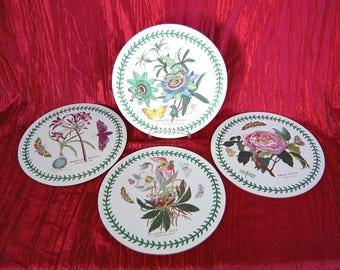 Set of 4 Vintage Portmeirion BOTANIC GARDEN 9 Inch Round Cork Board Placemats or Trivets
