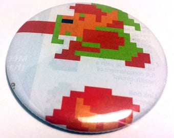 Handmade POCKET MIRROR made using recycled magazines -The legend of Zelda Link- 2.25 inches - OOAK - One of a Kind
