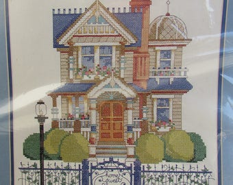VICTORIAN CHARMER Bucilla Stamped Cross Stitch Kit 41654 Home Sweet Home Great Housewarming Gift to Stitch and Make Brand New in Package