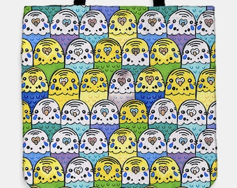 So Many Budgies Tote Bag