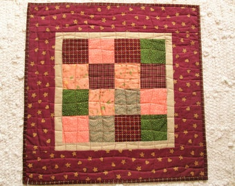 Quilted Farmhouse Country Rustic Primitive Patchwork Table Topper