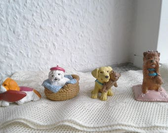 Vintage PUPPY in My Pocket - set of 4, Love N Sparkle Series - Jemima, Ginny,Carrie, Trixie - 1995 - Kitty in my pocket, Pony in my Pocket