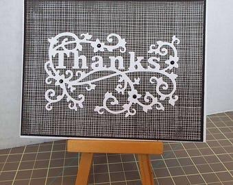 Elegant Thanks - Thank You Card