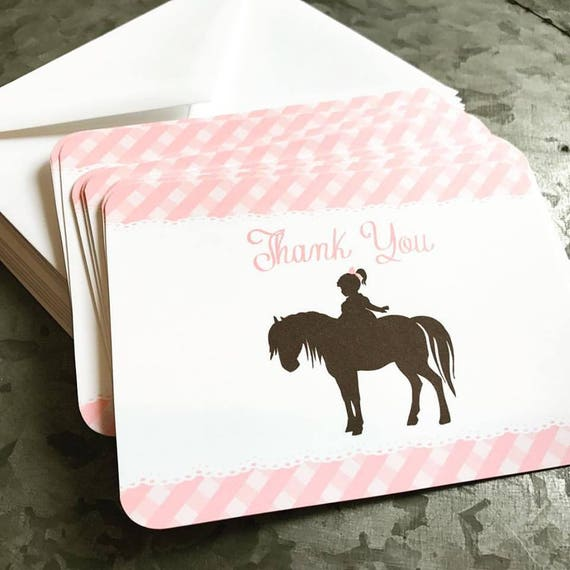 Pony Thank you Note Cards