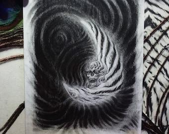 Tiger Moon 88 /// Graphite Original Art