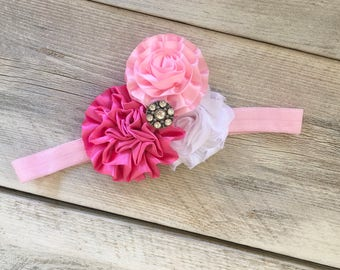 Last One Pink Frilly Headband Infant/Toddler Fits 6 Months-2Years 1st Birthday