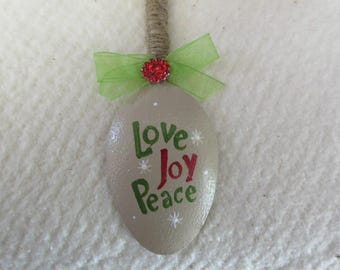 Hand Painted Spoon Christmas Tree Ornament