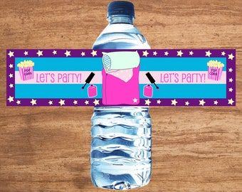 Instant Download Pajama Party Water Bottle Labels