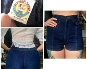1970s Shorts // Rumble Seats Denim Short Shorts // vintage 70s shorts