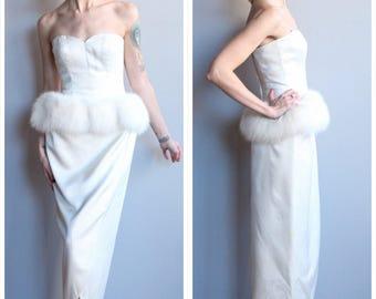 1950s style 1970s Dress // Lillie Rubin Snow Bunny Dress // vintage 70s does 50s dress