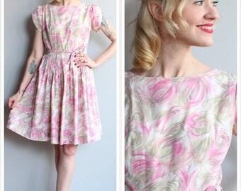 1950s Dress // Tulip Day Dress // vintage 50s dress
