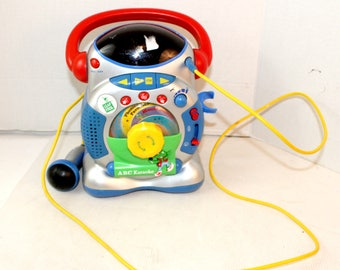 Vintage v-tech vtech Leap Frog ABC Karoke karaoke Machine with microphone