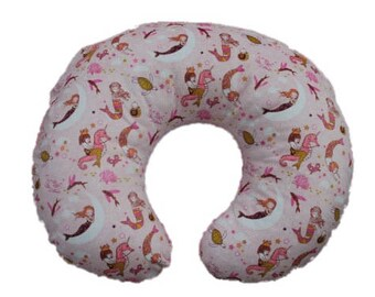 boppy cover- nursing pillow cover-mermaid minky boppy cover-all minky cover