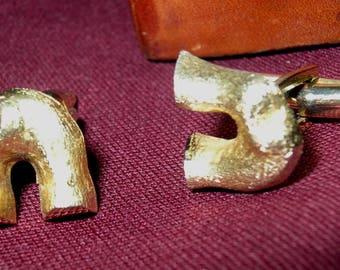Rare Unique Vintage Goldtone Cufflinks