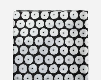 black and white blooms changing pad cover, contoured changing pad cover