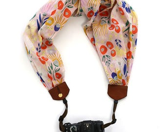 scarf camera strap flowering fancy - BCSCS089